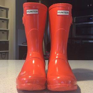 Short gloss hunter boots